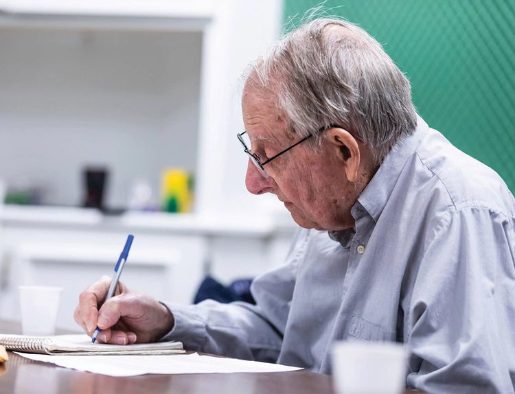 Feet-to-the-Fire-Workshops-Workshop-Writing-Room-Participant-Elderly-Man